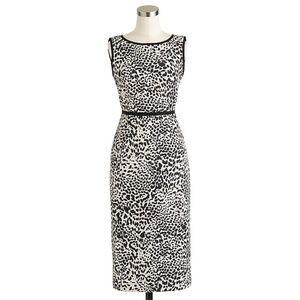 J. Crew Collection Leopard Tweed Dress Size 12